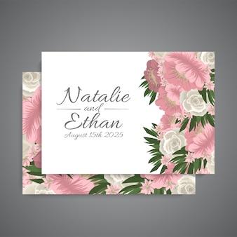 Huwelijksachtergrond - roze bloemen