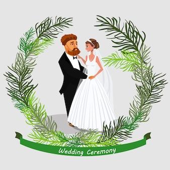 Huwelijksceremonie uitnodiging.