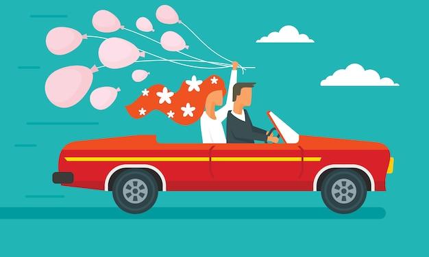 Huwelijksreis concept banner