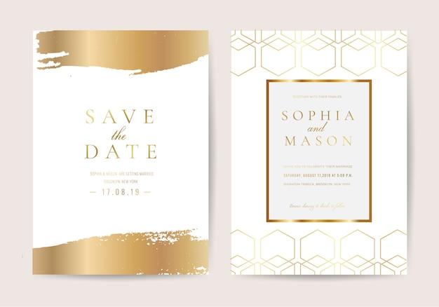 Huwelijksuitnodiging in luxestijl Premium Vector