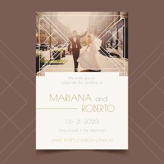Huwelijksuitnodiging met foto