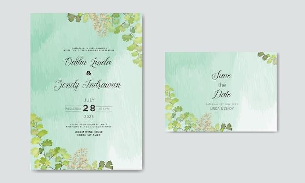 Huwelijksuitnodiging met luxe en schoonheid bloemen