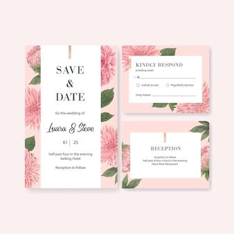 Huwelijksuitnodiging met romantisch gebladerte
