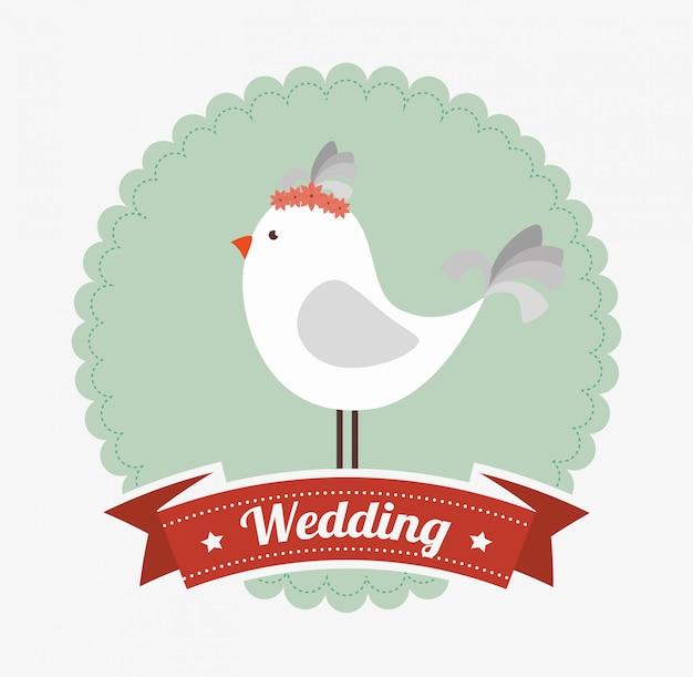 Huwelijksuitnodiging ontwerp