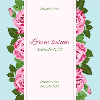Huwelijksuitnodigingen met roze rozen