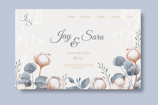 Huwelijksverjaardag bestemmingspagina websjabloon