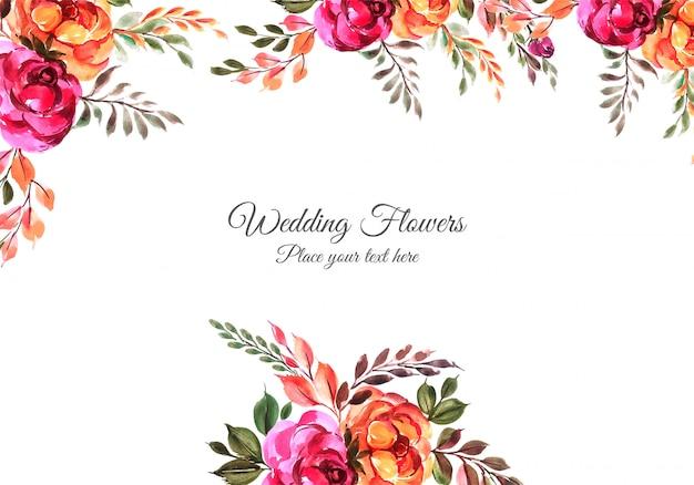 Huwelijksverjaardag decoratief bloemenframe