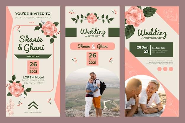 Huwelijksverjaardag instagram-verhalen
