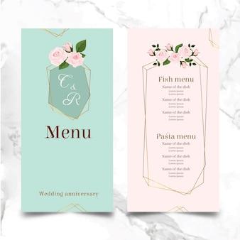 Huwelijksverjaardag menu