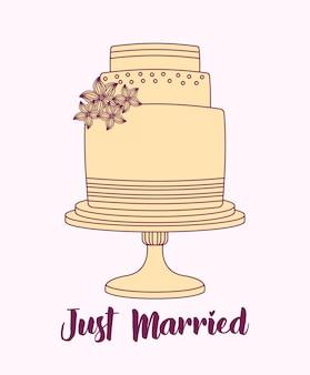 Huwelijksviering met zoete cake