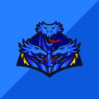 Hydra e sport mascotte logo ontwerp