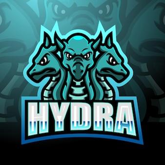 Hydra mascotte esport logo ontwerp