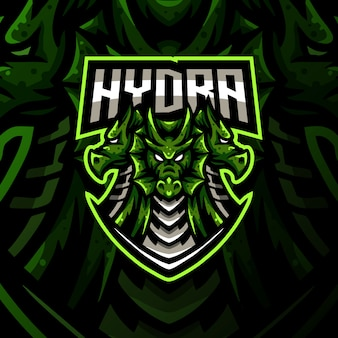 Hydra mascotte logo esport gaming illustratie