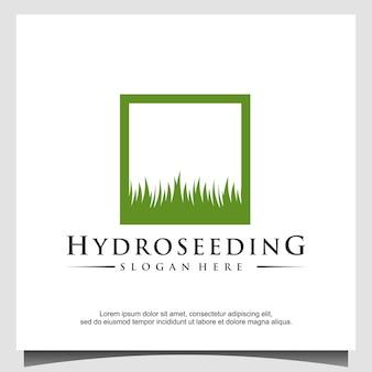 Hydro zaad logo ontwerpsjabloon