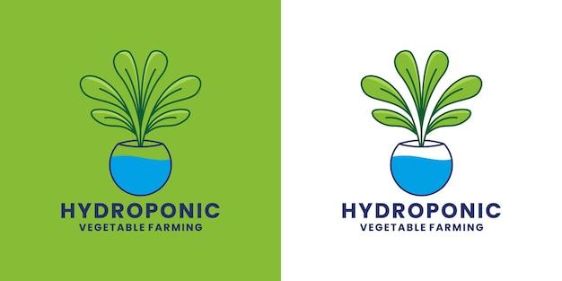 Hydrocultuur logo ontwerp landbouw vector