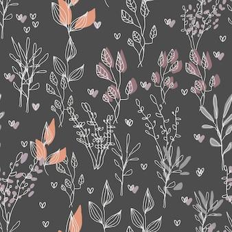 Hygge botanisch naadloos patroon