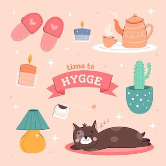 Hygge-stickerspakket
