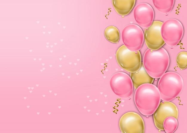 Hyper realistische ballonnen achtergrond