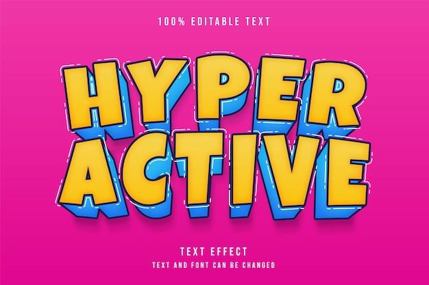 Hyperactief bewerkbaar teksteffect