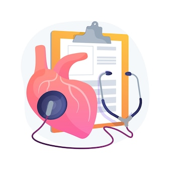 Hypertensie abstract concept illustratie. cardiologisch probleem, hoge bloeddruk, meetinstrument, diagnose van cholesterolniveau, oorzaak van hypertensie, ambulance