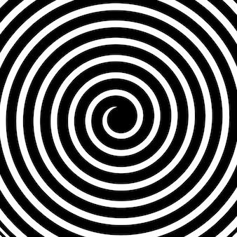 Hypnotische psychedelische spiraal, draai, draaikolk.