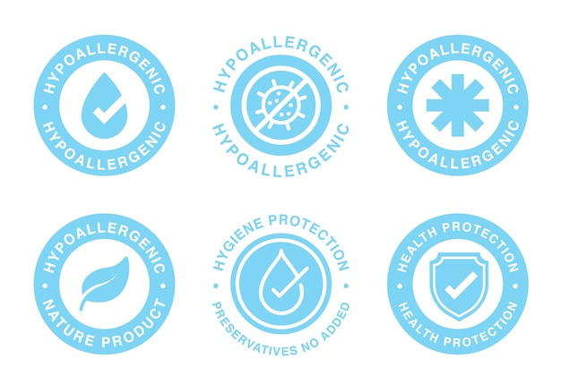 Hypoallergeen getest label voor gevoelige huidproducten.