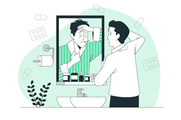 Hypochonder concept illustratie