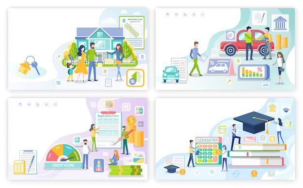 Hypotheek en persoonlijke lening, student money set