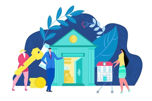 Hypotheek huis concept illustratie