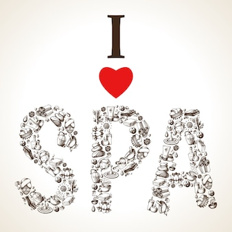 I love spa sketch-belettering