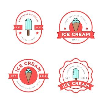 Ice cream logo badges vector sjabloon