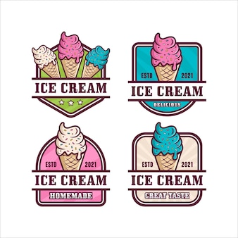 Ice cream logo collectie