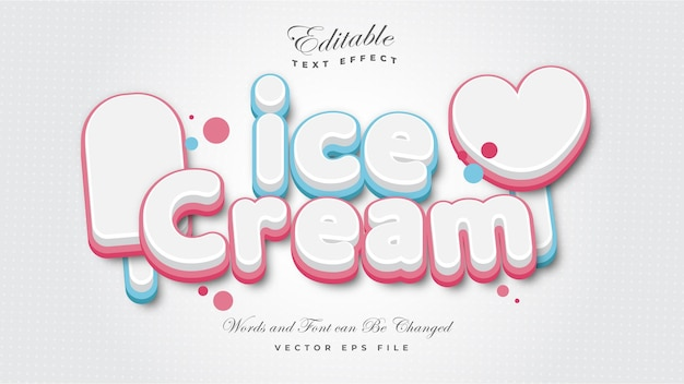 Ice cream teksteffect