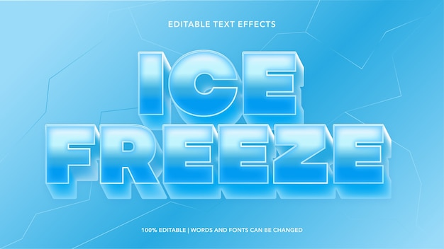 Ice freeze bewerkbare teksteffecten