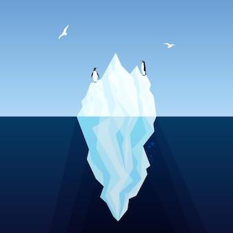 Iceberg geïllustreerd