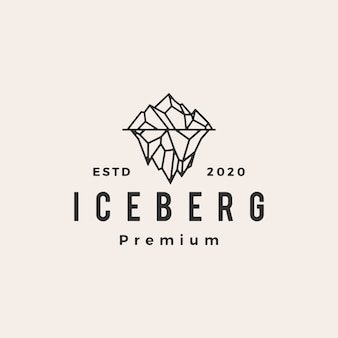 Iceberg mount vintage logo pictogram illustratie