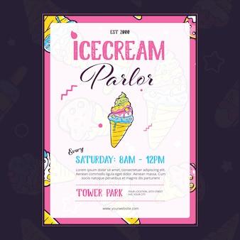 Icecream parlor card design