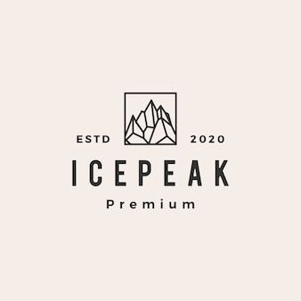 Icepeak mount hipster vintage logo pictogram illustratie
