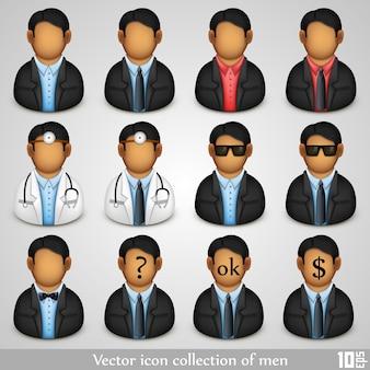 Icon collectie van mannen kunst. vector illustratie