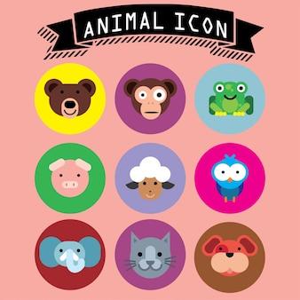 Icon dierlijk leuk