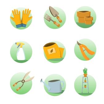 Icon set tuinieren