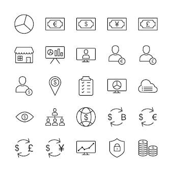 Icon set van bedrijf voor persoonlijk en commercieel gebruik