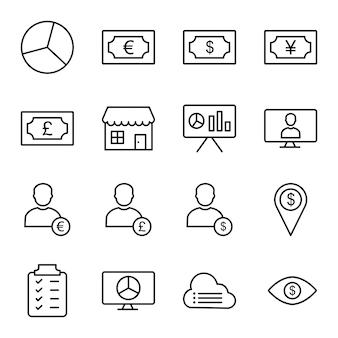 Icon set van bedrijf