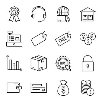 Icon set van e-commerce