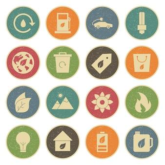 Icon set van eco