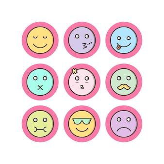 Icon set van emoji