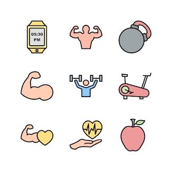 Icon set van gezondheid