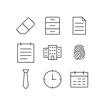 Icon set van kantoor