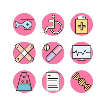 Icon set van medisch
