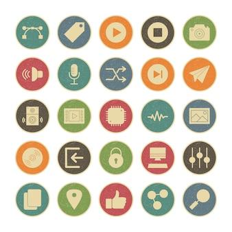 Icon set van multimedia